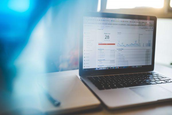 law statistics on laptop