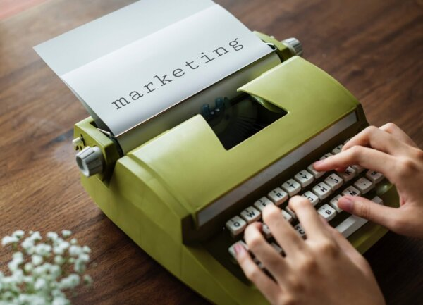 Typewriter marketing copywriting