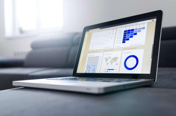 Google analytics on laptop screen